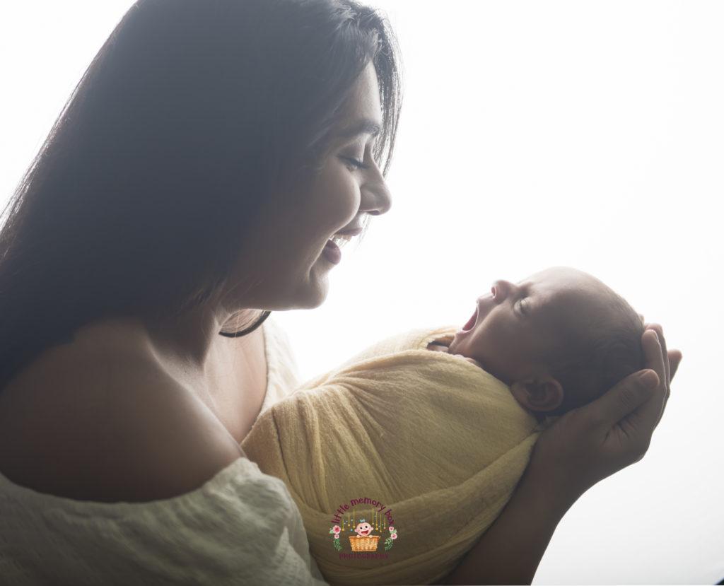 newborn mom and baby