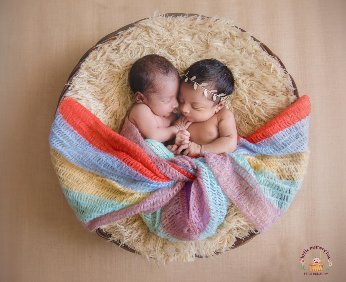 twins just born baby photoshoot bangalore